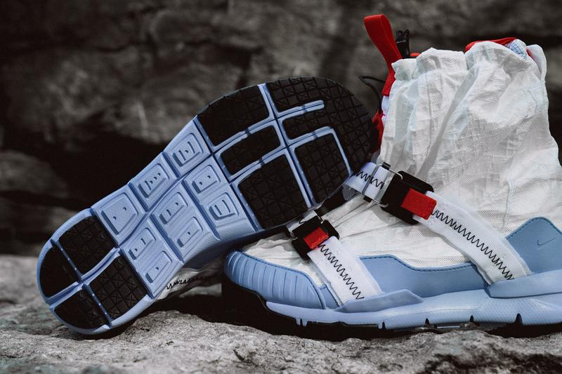 6d397e983 Tom Sachs x Nike Mars Yard Overshoe Closer Look collaboration colorway blue  white detailed imagery