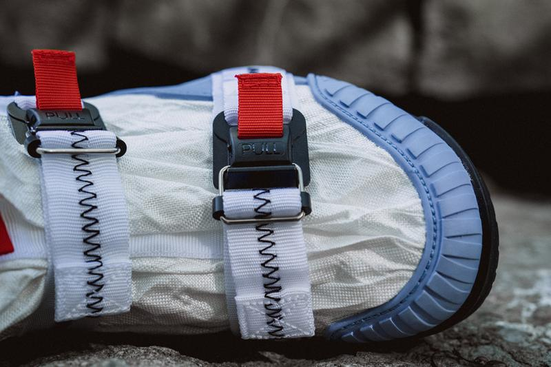 Tom Sachs x Nike Mars Yard Overshoe Closer Look collaboration colorway blue white detailed imagery