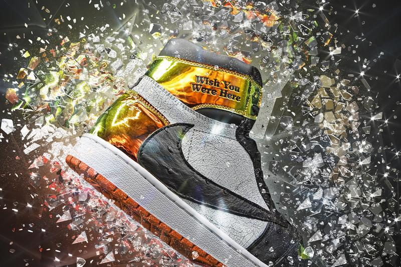 Ceeze's Travis Scott Air Jordan 1 Shattered Jack colorway custom bespoke sneaker release date info may 11 2019 ostrich