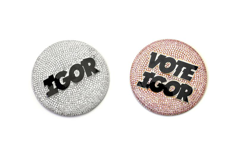 Ben Baller Custom pin diamond enamel gold sapphire ruby tyler the creator igor vote jewelry first look unique design