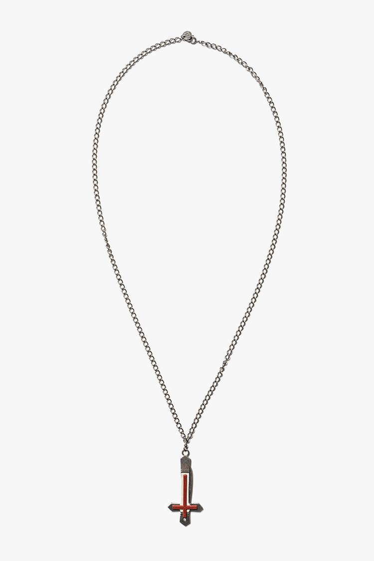 UNDERCOVER's UCW4N06 Silver Necklace With Hidden Pocket Knife