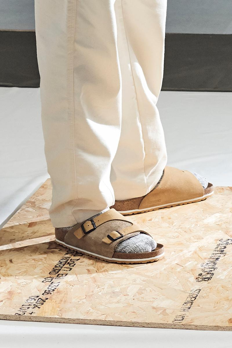 Universal Works x Birkenstock Zurich Boston Sand Taupe Slate Navy Footwear Sandal Collaboration Spring Summer 2019 SS19 Release Drop Date Information Where to Buy Cop Exclusive Limited Edition