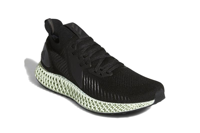 Updated adidas AlphaEDGE 4D First Look Futurecraft White Black 3D printed