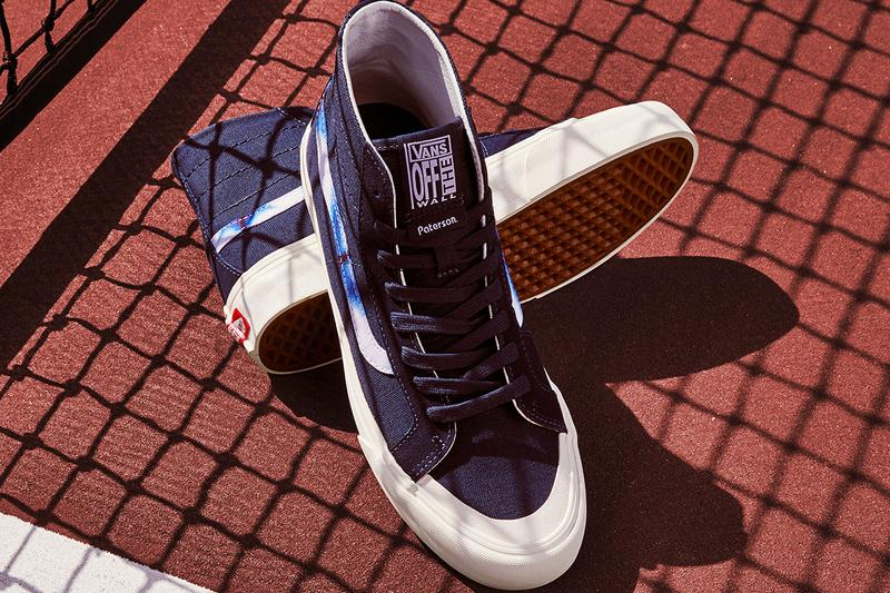 Paterson Vans Shibori Collection Release Info Details Authentic Sk8-Hi Tri Lock Sandal Ultra Range Blue White Indigo Dying pattern print first look closer look japanese new jersey new york