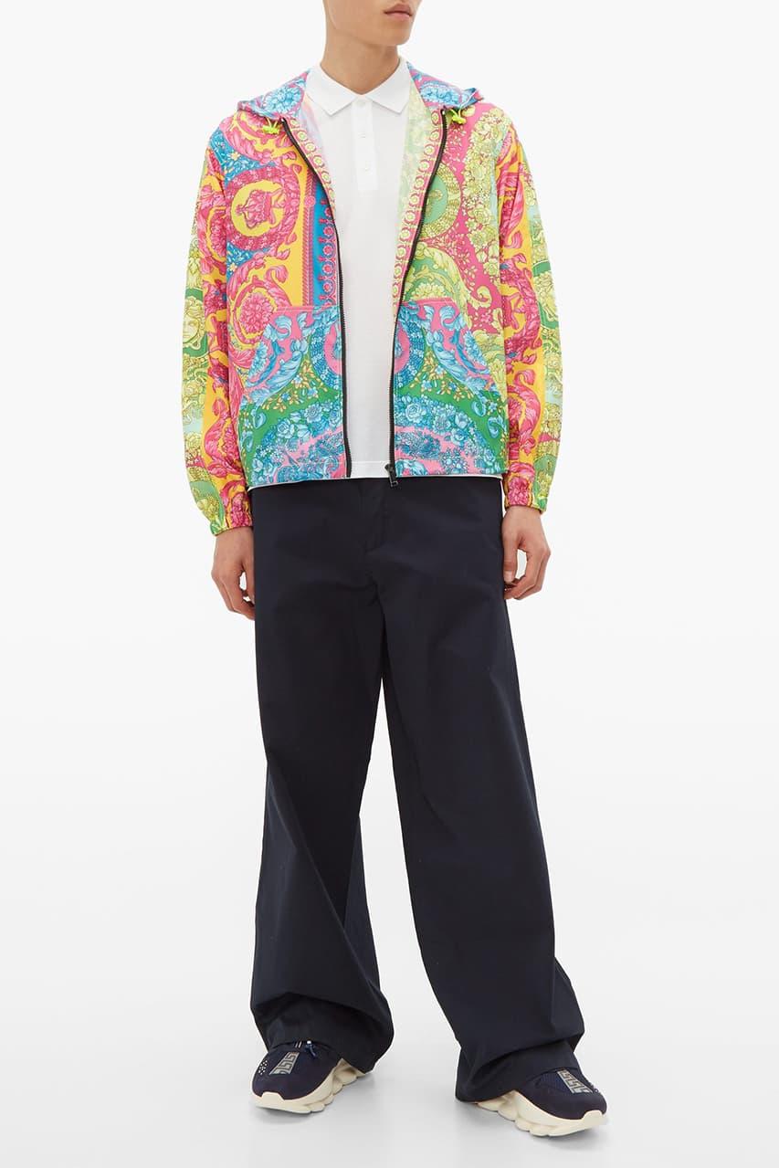 Versace Crowns T-Shirt & Lightweight Jacket With All-Over Medusa Head Print