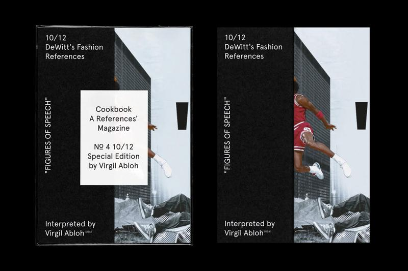 Virgil Abloh, Cali Thornhill Dewitt Cookbook magazine number 4 interview figures of speech exhibit references interview