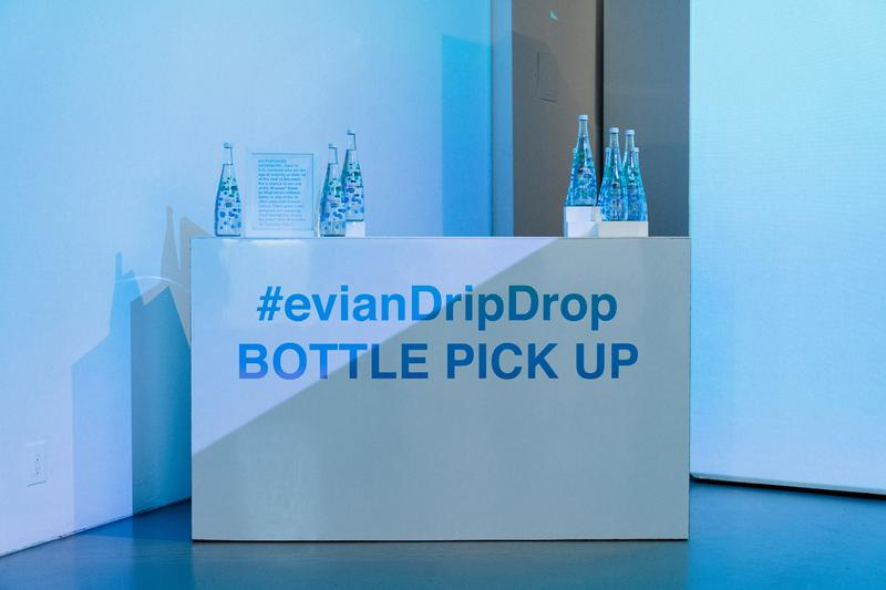 "Virgil Abloh x Evian ""Drip Drop"" Pop-Up Event, Inside Look bottles soma one drop make a rainbow exclusive raffle giveaway signed new york nyc may 9 2019"