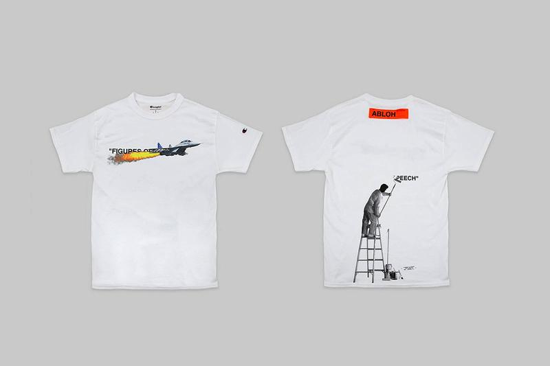 Virgil Abloh Museum of Contemporary Art in Chicago T-shirt Champion Frenzy App How to Buy Cop Merch Name Quotation Marks Figures of Speech Exhibition