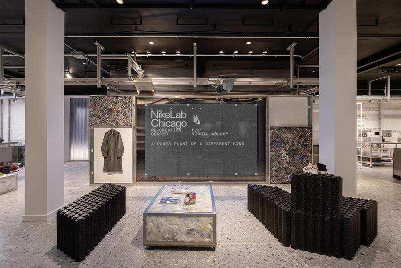 NikeLab Chicago Re-Creation Center c/o Virgil Abloh collaboration open space experiential may 31 2019 july 28 673 N Michigan Ave Illinois IL 60611