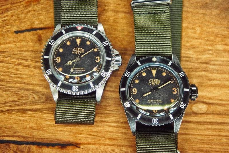Watch Experimental Unit MADNESS Collab Teaser Royal Marine Sea Diver Aged Nylon Strap