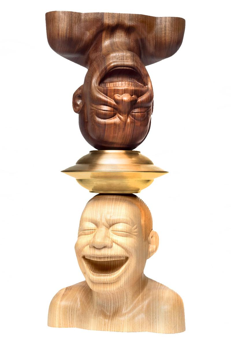 Yue Minjun Surplus Value Sculpture Release chinese contemporary artists smile marxism