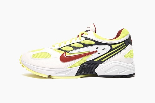 "Nike Air Ghost Racer ""White/Atom Red-Neon Yellow-Dark Grey"""
