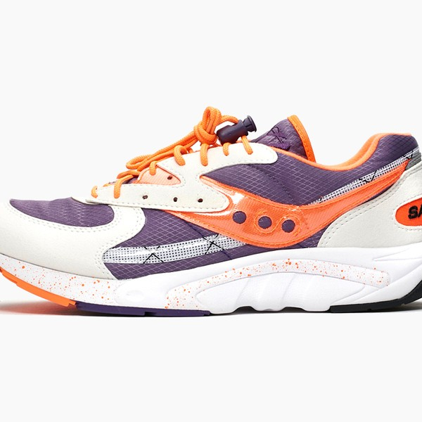 Saucony Aya Purple/Orange/White Sneaker