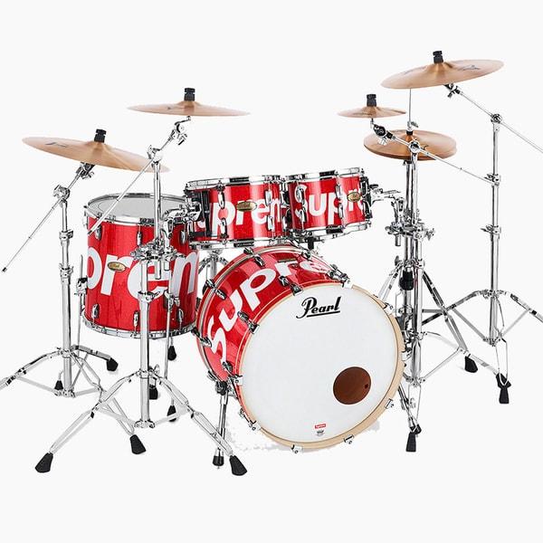 Supreme x Pearl Drum Kit