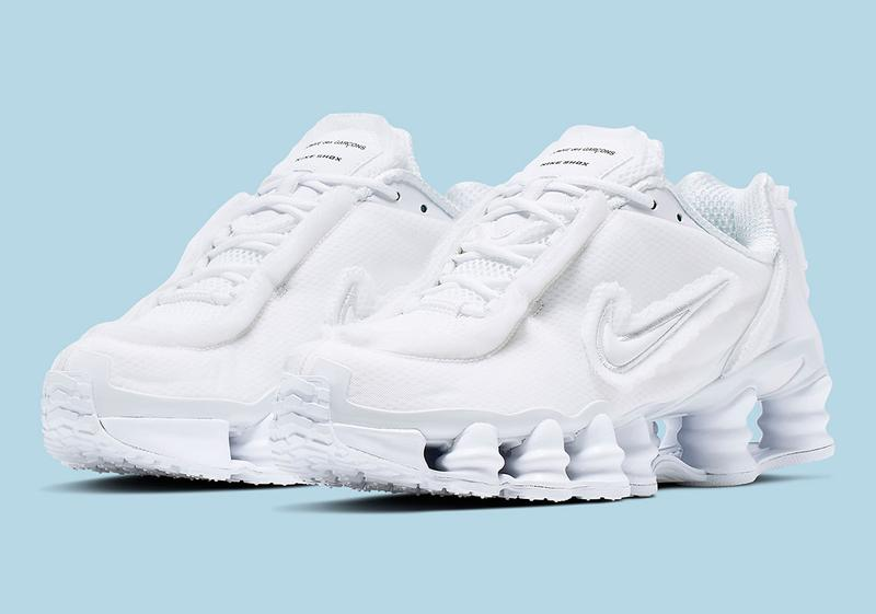 "COMME des GARÇONS x Nike Shox TL ""Triple White"" sneaker where to buy price release 2019 collaboration"