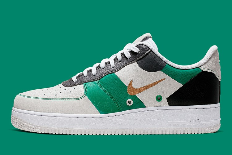 ad685b0e0735b Nike Air Force 1 Looks Distinguished in Metallic Gold, Black and Vast Grey  Colorway