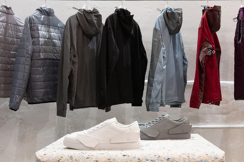 a cold wall samuel ross london fashion week mens pop up inside look runway chroma glare truman brewery products release information shard low sneaker
