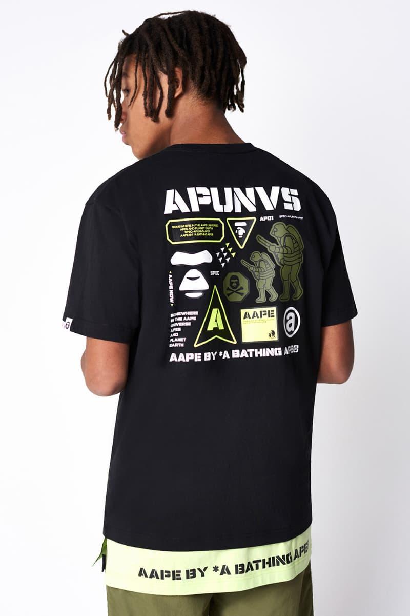 AAPE by A Bathing Ape Summer 2019 Collection lookbooks bape ape head camping black dunk