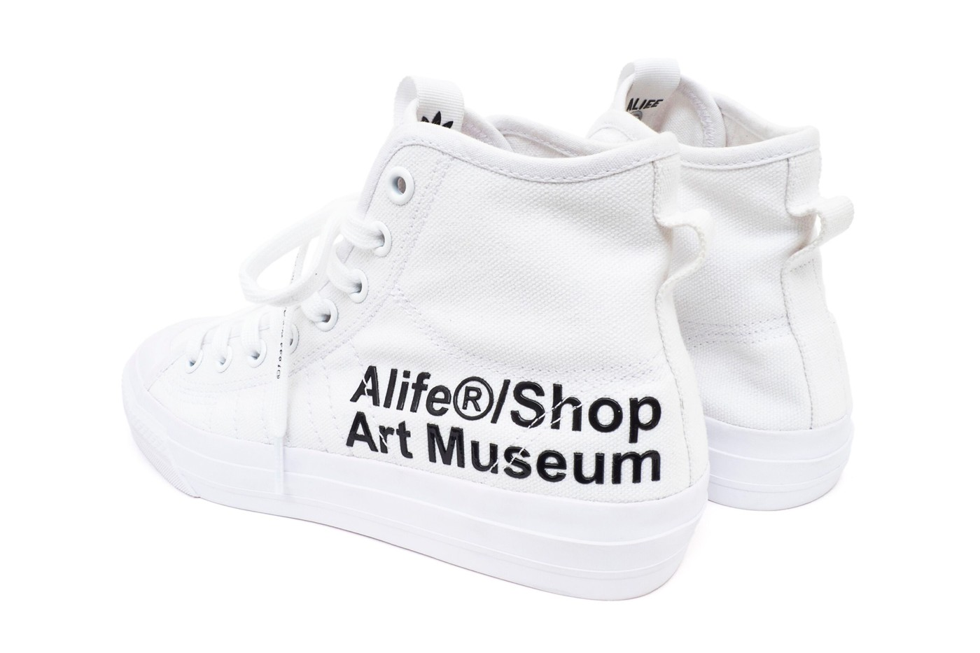 adidas Consortium Alife Nizza Hi Makeover Info NYC new york city streetwear sneakers originals museum shoes artist proof