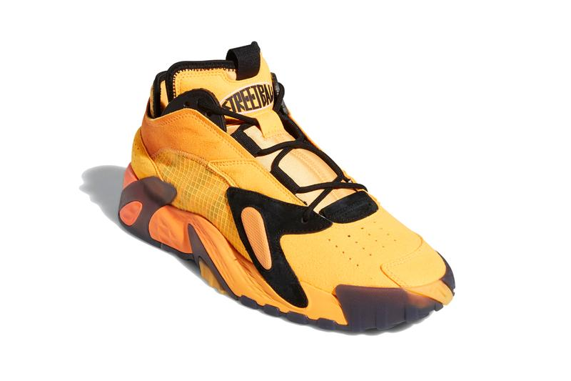 adidas Originals Streetball Shoes Flash Solar Orange core Black EF9598 street ball basketball yellow 1993 90s sneakers