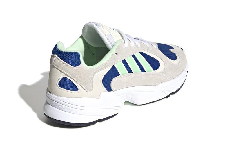 adidas originals yung 1 Core Black Hi Res Yellow Ftwr White Collegiate Royal Solar Green Real Purple vintage heritage footwear sportswear giant german mesh suede
