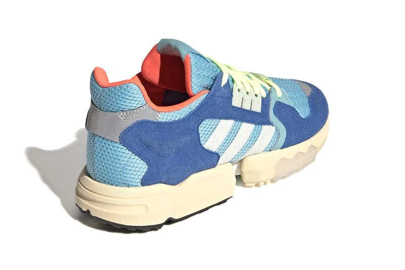 adidas Originals ZX Torsion BOOST Equipped Sneakers Shoes Release Information Drop Date First Look Cop Online Buy Bright Cyan Linen Green Blue Cream Sole Unit Icy Wide Mesh Suede '80s Retro Vintage Silhouette