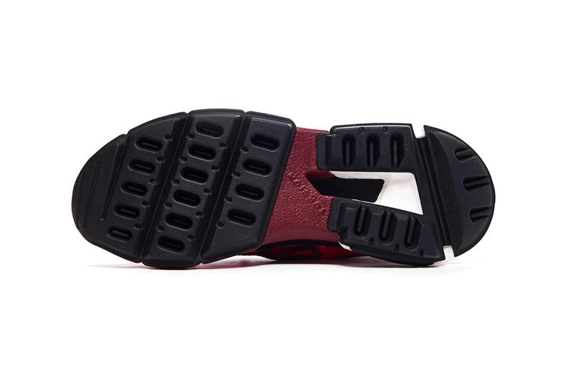 adidas Originals POD S3 2 Scarlet red burgundy wine mesh uppers suede Boost technology sneakers rubber