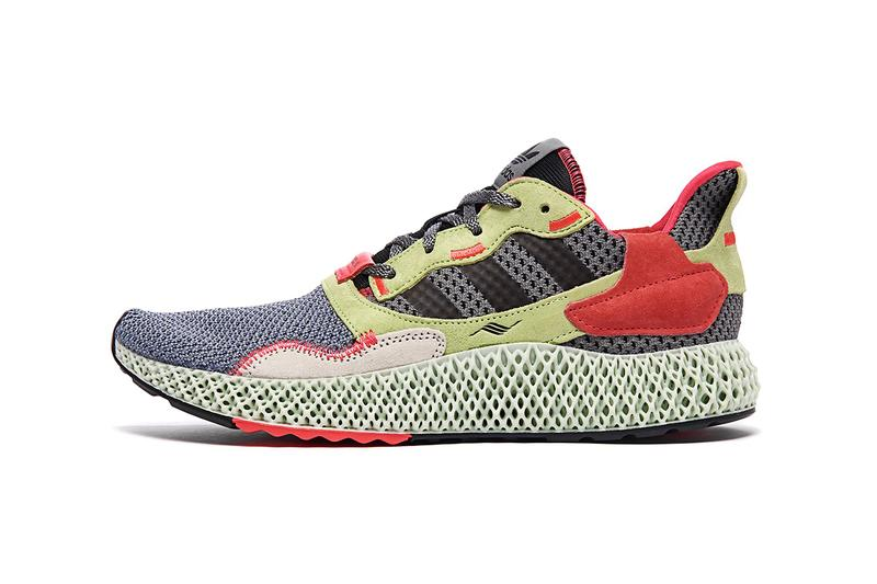 "adidas ZX 4000 4D ""Grey/Yellow/Red"" Sneaker Release Information Release Liquid Resin Light Oxygen Sole Unit Footwear Retro Rework Primeknit Three Stripes"
