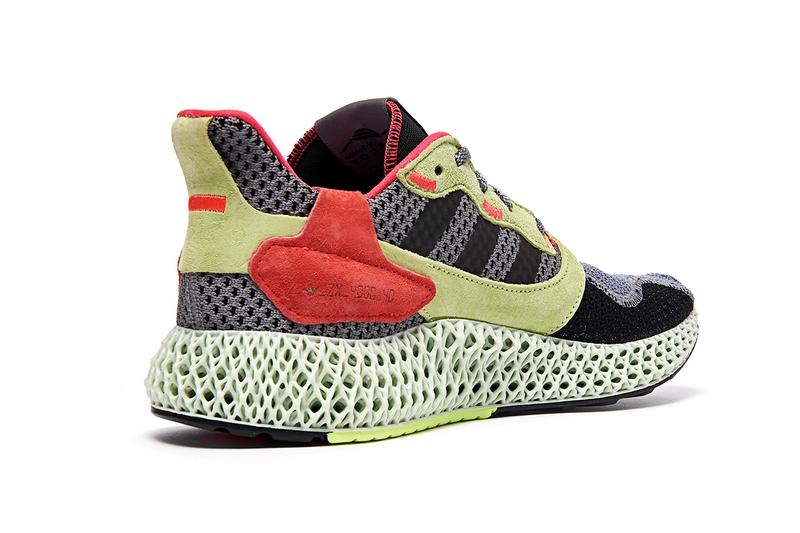 "adidas ZX 4000 4D ""Grey/Yellow/Red"" Sneaker Release Information Release Liquid Resin Light Oxygen Sole Unit Footwear Retro Rework Primeknit Three Stripes"