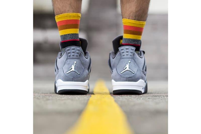 On Feet With the Air Jordan 4 Cool Grey Info sneakers brand basketball retro jumpman