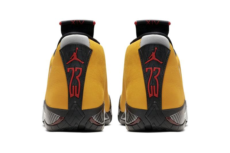 Air Jordan XIV Reversed Ferrari Release Info Brand sneakers jumpman michael jordan sportscar speed racing cars italian university gold