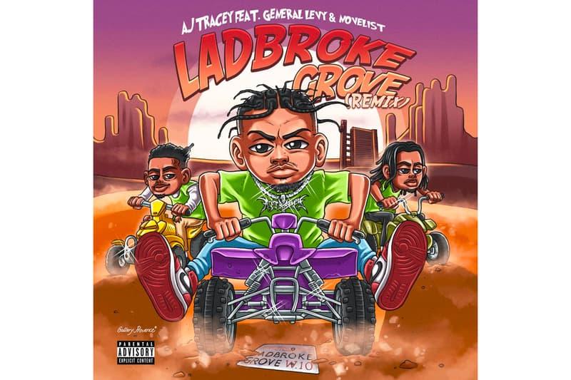 "AJ Tracey ""Ladbroke Grove"" (Remix) Stream feat. General Levy & Novelist produced by Conducta Jorja Smith UK Garage Grime Jungle Drum & bass stream listen now spotify apple music"