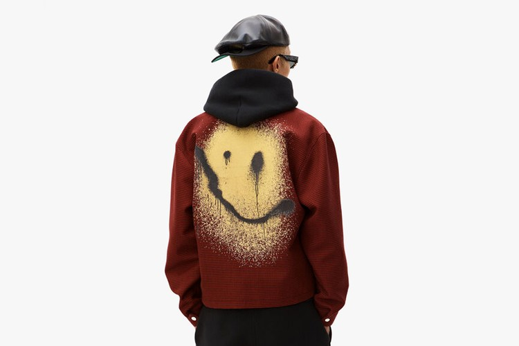 fa39ce0b2 Jackets. Alexander Wang Spray Paints a Smiley Face on SS19 Coaches Jacket