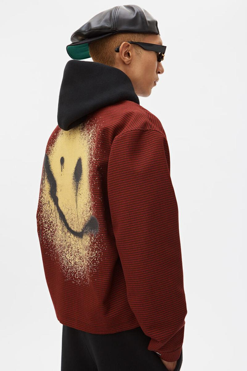 alexander wang spray paint coaches jacket smiley face graphic spring summer 2019 release