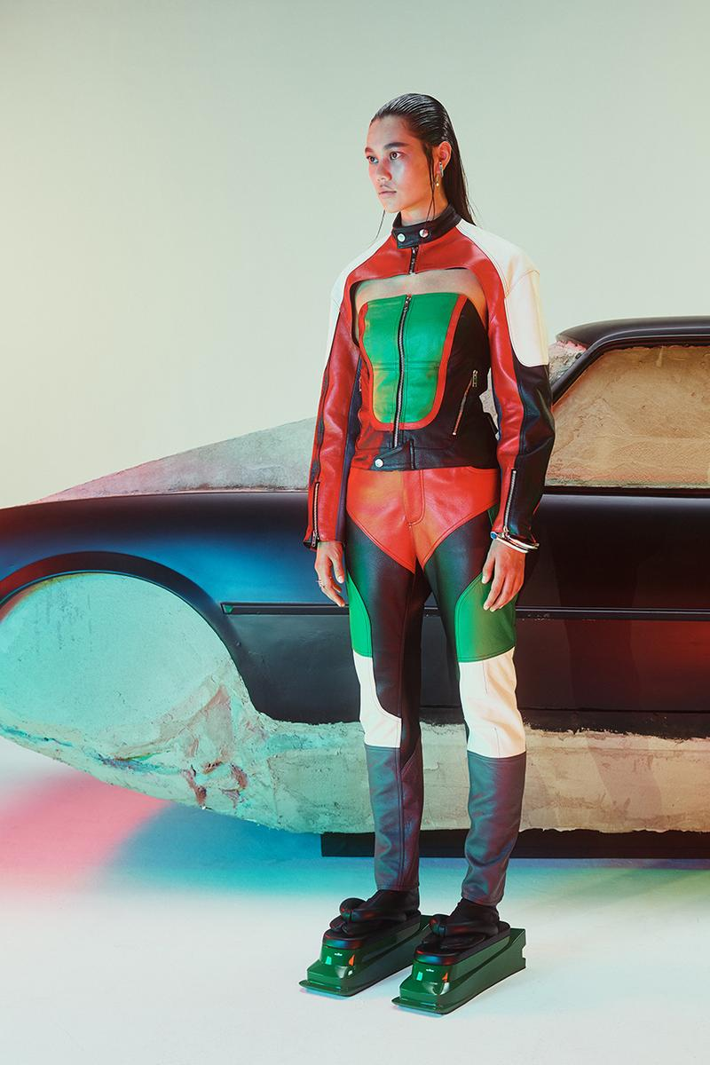 AMBUSH Spring/Summer 2020 SS20 Collection Mens Womens Lookbook Shots Paris Fashion Week Men's Release Yoon Ahn Designed Pieces Racing Automotive Theme Futuristic Sporting