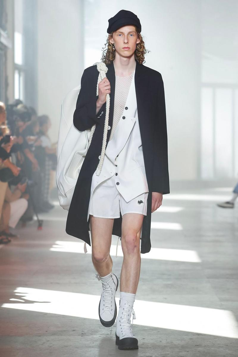 Ann Demeulemeester Spring Summer 2020 Collection sailor Antwerp Port North Sea stripes uniform dock worker seaside nautical naval maritime captain's coat jackets
