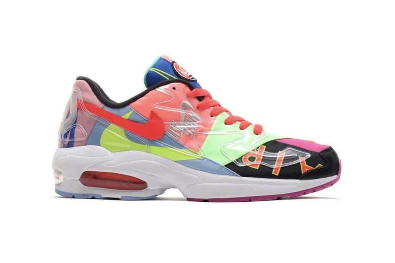 "atmos x Nike Air Max2 Light ""Black"" Sneakers Hirofumi Kojima Swoosh Embroidery Air Max Day"