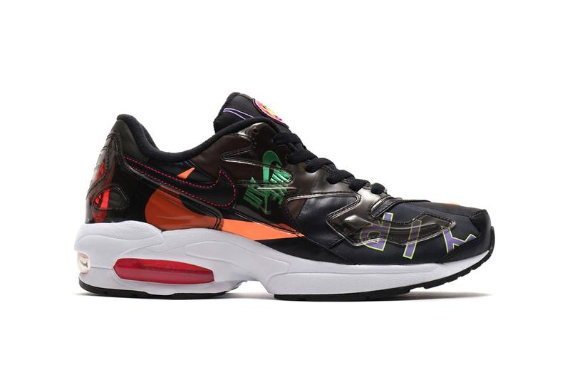 0dcd56b418 Nike atmos Air Max2 Light Black Capsule collection 90s 25th anniversary  bold hues vibrant neon fuschia
