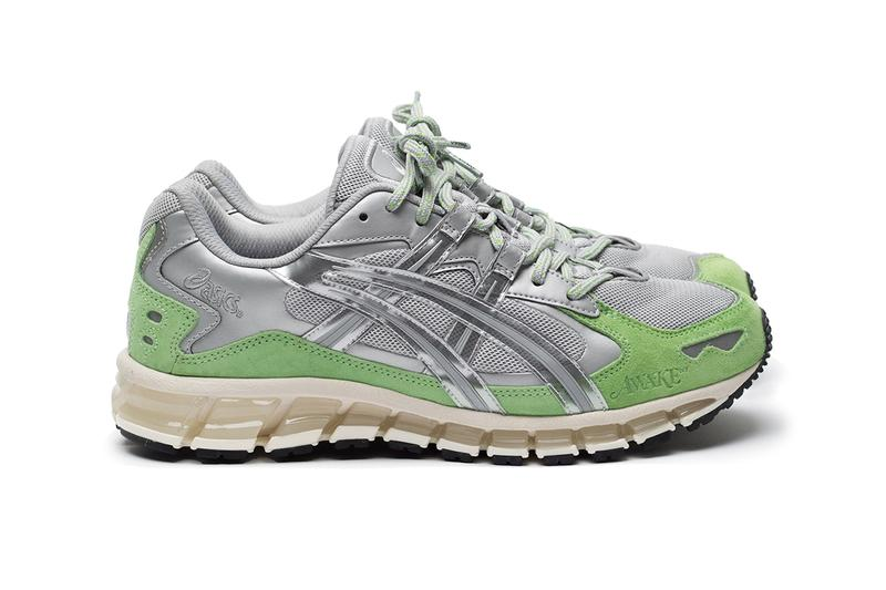 awake ny angelo baque supreme asics gel kayano 5 360 silver mint green black gold release information details new york paris pop up online web store drop date