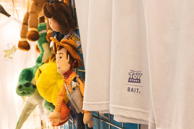 "Bait x Disney Pixar 'Toy Story 4' Capsule ""Made to Play"" T-shirts collectibles sketches graphics streetwear"