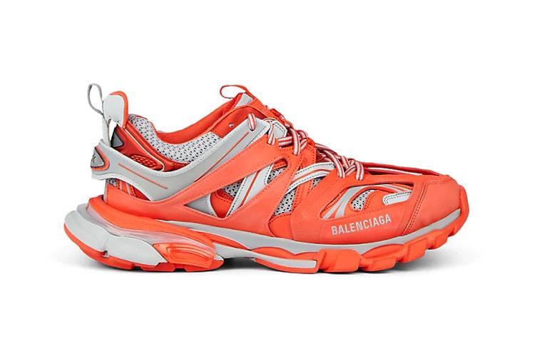 premium selection 044ba b7d68 Balenciaga's Track Trainer Lands a Blazing Orange and Grey Colorway