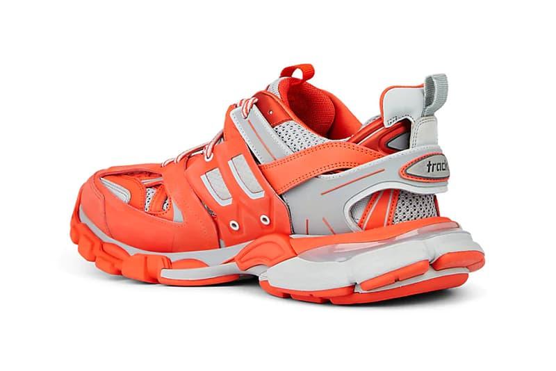 balenciaga track sneakers trainers orange grey colorway release spring summer 2019 506269642