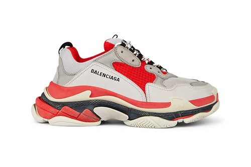 "Balenciaga Unveils Triple S Clad in ""Red/Off-White"""