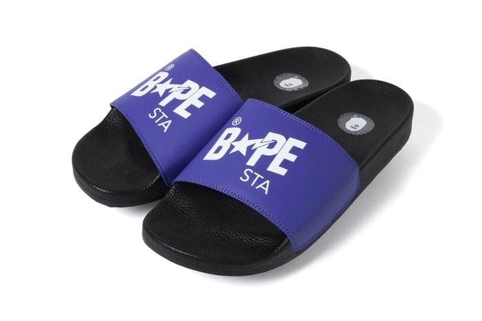 14ea7921 BAPE Drops Colorful BAPESTA Slides for the Summer Season