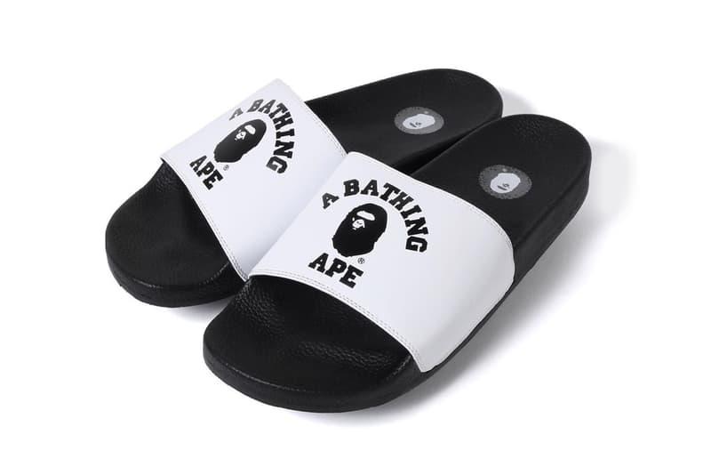 BAPE BAPESTA Slides SS19 Release spring summer 2019 college slides sandals a bathing ape blue red purple black white ape head