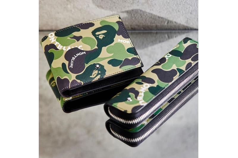 Montblanc x BAPE SS19 Collection spring summer 2019 collaborations accessories pens leather wallets case doc case portfolio computer bag wallet pen case
