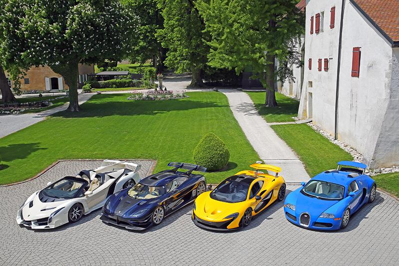 Bonhams Geneva Hypercar Supercar Auction Sale No Reserve Lamborghini Veneno McLaren P1 Bugatti Veyron 16.4 Ferrari LaFerrari Koenigsegg One:1 Aston Martin One-77 Bentley Maserati Maybach Mercedes Clubhouse Lake