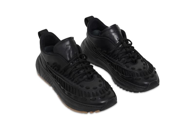 bottega veneta laces lowtop low top leather mocassin sneakers black colorway release