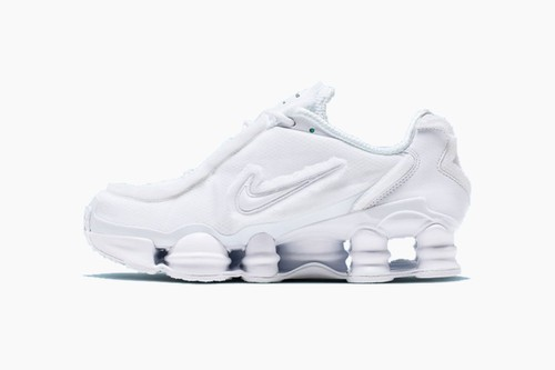"COMME des GARÇONS x Nike Shox TL ""Triple White"""