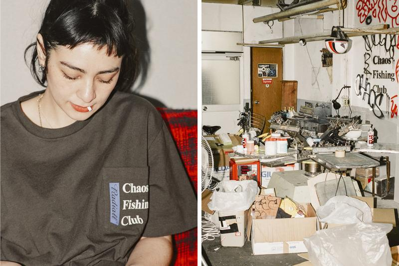 Chaos Fishing Club x Radiall Capsule Japanese Tokyo Skatewear Skate Summer 2019 Collection shirt button up sacoche bag bucket hat CFC